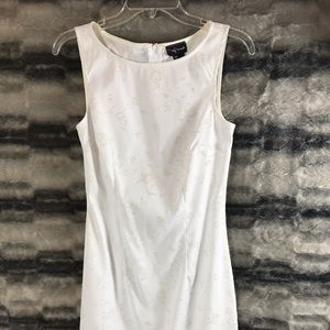 JC Penny White Stretchy Dress